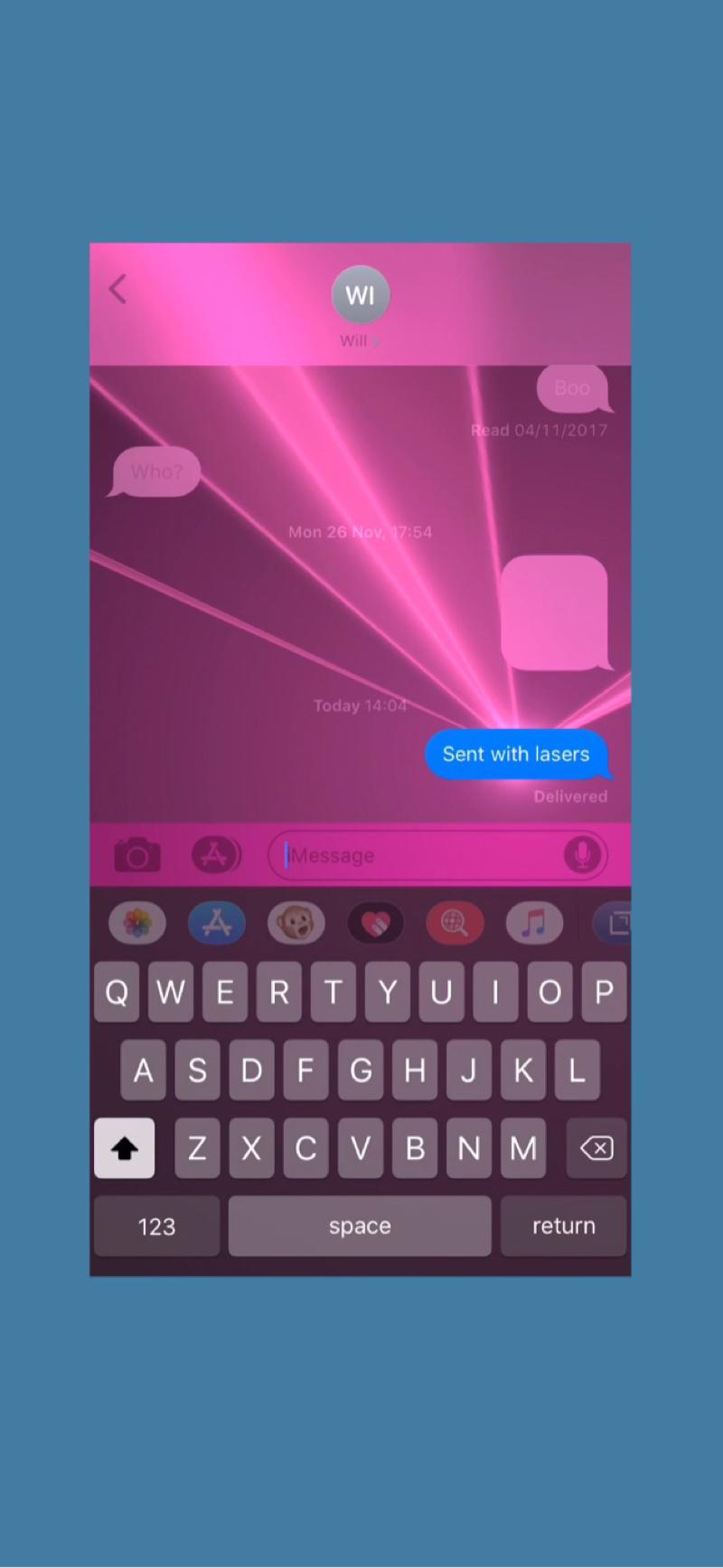 How to use iPhone message effects to send lasers and